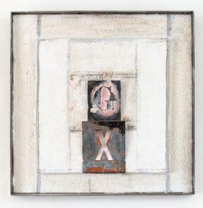 Paula Anke, Processus de distillation, Assemblage peinte, 2003, 50x50cm © Eric Tschernow